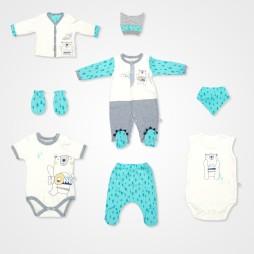 İmaj Ayıcık Bebek Takımı 8'li - Mint Yeşili