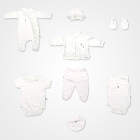 İmaj Kelebek Bebek Takımı 8'li - Ekru