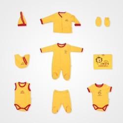 İmaj Sarı-Kırmızı Bebek Hastane Çıkış Seti 10'lu - Sarı Bebek Giyim