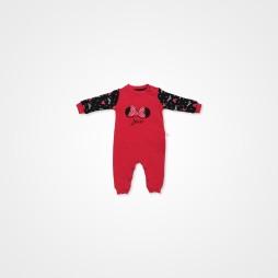 Dİvo Miki Bebek Tulumu Tek Parça -  Kırmızı Bebek Giyim
