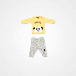 Divo Panda Erkek  Bebek Takımı 2'li - Sarı