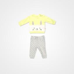 Divo Tavşanlı Bebek Takımı 2'li - Sarı