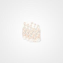 Minisoft Zürafa Baskılı Çıtçıtlı Bebek Zıbın Seti 3'lü - Turuncu