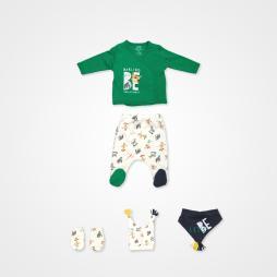 İmaj Badili Safari Erkek Bebek Takımı 5'li - Yeşil