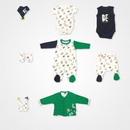 İmaj Safari Erkek Tululmlu Bebek Takımı 8 li - Yeşil