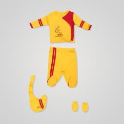 İmaj Taraftar Badili Bebek Takımı 4'lü - Sarı Kırmızı Bebek Giyim