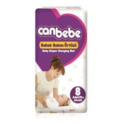 Canbebe Bebek Bakım Örtüsü 60x60 Cm 8 Adet Temizlik & Bakım Ürünleri