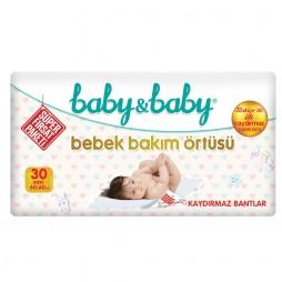 Baby & Baby Bebek Bakım Örtüsü 60x60 Cm 30 Adet Temizlik & Bakım Ürünleri
