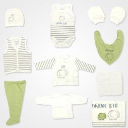 Bebbek Dream Big Filli Hastane Çıkış Seti 10'lu - Yeşil Bebek Giyim