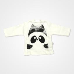 Bebbek Panda Desenli Hastane Çıkış Seti 10'lu - Siyah Bebek Giyim