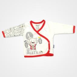 Miniworld Ayıcık Kabartmalı Hastane Çıkış Seti 10'lu - Kırmızı Bebek Giyim