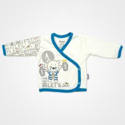 Miniworld Ayıcık Kabartmalı Hastane Çıkış Seti 10'lu - Mavi Bebek Giyim