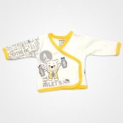 Miniworld Ayıcık Kabartmalı Hastane Çıkış Seti 10'lu - Sarı Bebek Giyim
