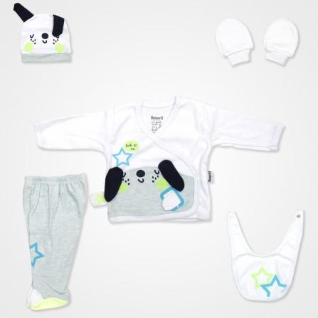 Miniworld Neon Dog Hastane Çıkış Seti 5'li - Yeşil Renk Bebek Giyim
