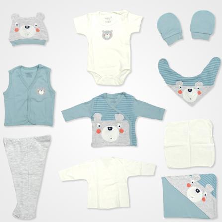 Nenny Baby Şaşkın Ayıcık Hastane Çıkış Seti 10'lu - Yeşil