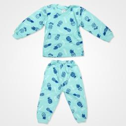 My Jully Ananas Baskılı Bebek Pijama Takımı - Mavi Bebek Giyim