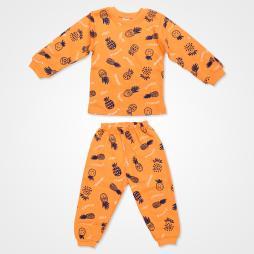 My Jully Ananas Baskılı Bebek Pijama Takımı - Turuncu