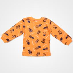 My Jully Ananas Baskılı Bebek Pijama Takımı - Turuncu Bebek Giyim
