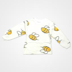 My Jully Arı Baskılı Bebek Pijama Takımı - Beyaz Bebek Giyim