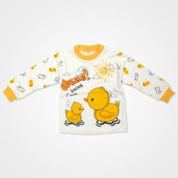 Süpermini Hello Ducks Bebek Pijama Takımı - Turuncu Bebek Giyim