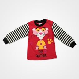 Süpermini Panter Bebek Pijama Takımı - Kırmızı Bebek Giyim