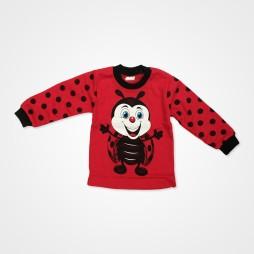 Süpermini Uğur Böceği Baskılı Bebek Pijama Takımı - Kırmızı Bebek Giyim