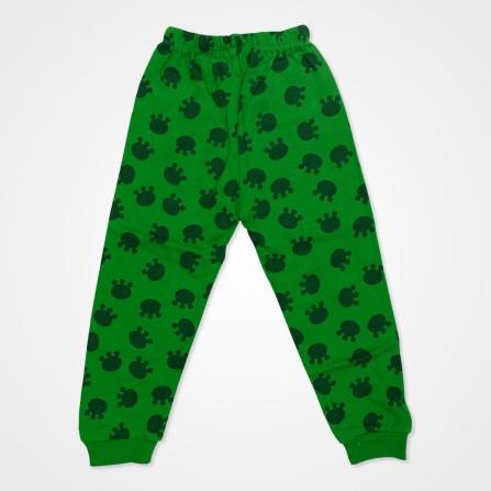 Süpermini Yeşil Kurbağalı Bebek Pijama Takımı - Yeşil Bebek Giyim