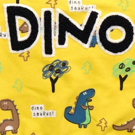 Anılço Baby Dinozor Baskılı Mevsimlik Bebek Takımı 2'li - Sarı Bebek Giyim