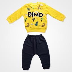 Anılço Baby Dinozor Baskılı Mevsimlik Bebek Takımı 2'li - Sarı