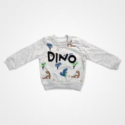 Anılço Baby Dinozor Baskılı Mevsimlik Bebek Takımı 2'li - Gri