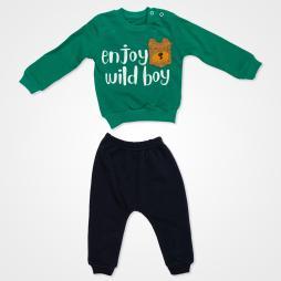 Anılço Baby Enjoy Wild Boy Mevsimlik Bebek Takımı 2'li - Yeşil Bebek Giyim