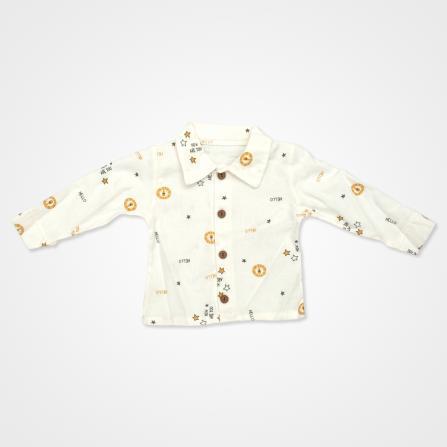 Hippıl Baby Aslan Kapşonlu Yelekli Bebek Takımı 3 Parça - Sarı Bebek Giyim