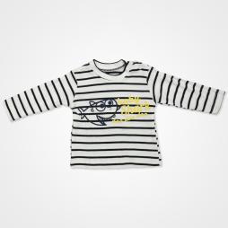 Hippıl Baby Balık Desenli Kapşonlu Ceketli Bebek Takımı 3 Parça - Sarı Bebek Giyim