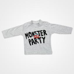 Hippıl Baby Canavar Kapşonlu Yelekli Bebek Takımı 3 Parça - Turuncu Bebek Giyim