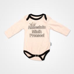 Miniworld Annesinin Minik Prensesi Badili Bebek Takımı 3 Parça - Somon Rengi Bebek Giyim