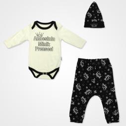 Miniworld Annesinin Minik Prensesi Badili Bebek Takımı 3 Parça - Su Yeşili Bebek Giyim