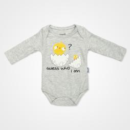 Miniworld Civcivli Badili Bebek Takımı 3 Parça - Gri Bebek Giyim