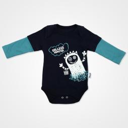 Miniworld College Monster Badili Bebek Takımı 3 Parça - Yeni Petrol Bebek Giyim