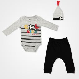 Miniworld Cool Kids Badili Bebek Takımı 3 Parça - Kar Melanj Bebek Giyim