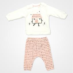 Miniworld Kız Kadife Home Bebek Takımı 2'li - Pudra Rengi
