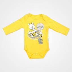 Miniworld Look Ayıcık Badili Bebek Takımı 3 Parça - Sarı Bebek Giyim