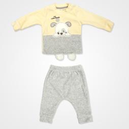 Miniworld My Cute Friends Kadife Bebek Takımı 2'li - Sarı Bebek Giyim