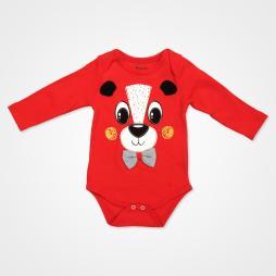 Miniworld Papyonlu Ayıcık Badili Bebek Takımı 3 Parça - Kırmızı Bebek Giyim