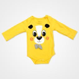 Miniworld Papyonlu Ayıcık Badili Bebek Takımı 3 Parça - Sarı Bebek Giyim