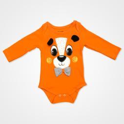 Miniworld Papyonlu Ayıcık Badili Bebek Takımı 3 Parça - Turuncu Bebek Giyim