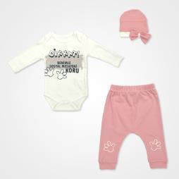 Miniworld Sosyal Mesafe Badili Bebek Takımı 3 Parça - Gül Kurusu