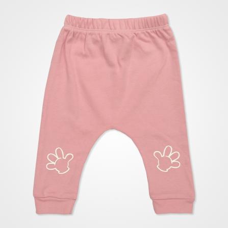 Miniworld Sosyal Mesafe Badili Bebek Takımı 3 Parça - Gül Kurusu Bebek Giyim