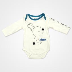 Miniworld Take It Easy Tavşanlı Badili Bebek Takımı 3 Parça - Ekru Bebek Giyim
