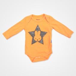 Miniworld Yıldızlı Tavşan Badili Bebek Takımı 3 Parça - Turuncu Bebek Giyim