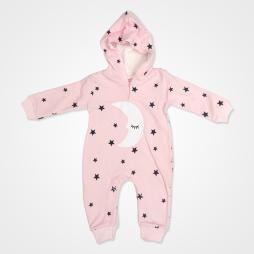 By Murat Baby Ayyıldız Kapşonlu Bebek Tulumu - Pembe Bebek Giyim